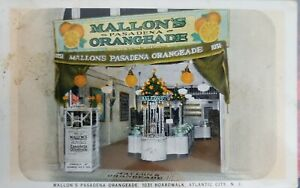 VTG 1900s Mallon's Pasadena Orangeade 1031 Boardwalk Atlantic City, N.J.Postcard