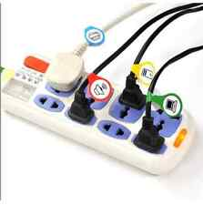 *AU SELLER* 1 Set of Cable Organisation Cord Tag Sticker Labels Cords