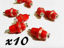 10x Chicken Drinker Feeder Water Nipple Poultry Hanging Screw Farm Duck Hen