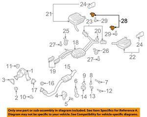 AUDI OEM 11-17 Q5 2.0L-L4 Exhaust-Rear Hanger Left 8R0253144B