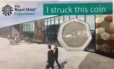 2018 Sir Isaac Newton 50p BU_Royal Mint Experience 2018 Strike Your Own.