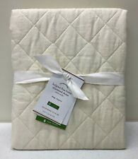 NEW Pottery Barn Belgian Flax Linen Diamond Quilted KING Sham~Ivory