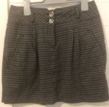 Portmans Skirt Size 10 Grey Brown Tweed Check EUC Business Preloved Euc