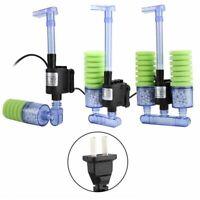 Aquarium Filter Fish Tank External Water Mini Pump Sponge Purifier Tool Cleaner