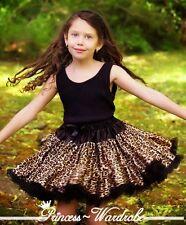 Pure Black Leopard FULL Skirt Tutu Dance Party Dress For Girl Adult Women Lady