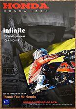 TT especial: John McGuiness un único uno fuera de Honda cartel firmado por el artista