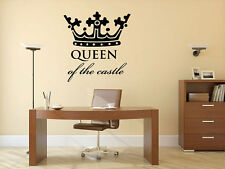 """Queen of the Castle Crown Wall Decal Vinyl Sticker 29x28"""" Home Decor"""