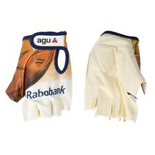 GUANTI CICLISMO VINTAGE TEAM RABOBANK CYCLING GLOVES SIZES M XXL NEW