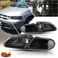 For 96-00 Chrysler Town&Country/Voyager Headlight/Lamp Black Housing Clear Side