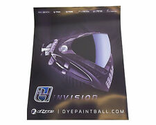 """DYE Paintball 2013 I4 Mask Poster 17"""" x 20"""" Inches"""
