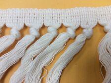 "Cotton Tassel Fringe Trim Ivory/Cream 6"" 5Yds"