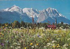 Die Zugspitzgruppe von Garmisch-Partenkirchen aus , Ansichtskarte