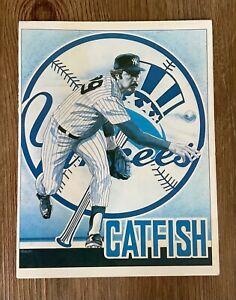 CATFISH HUNTER - NEW YORK YANKEES DAY PROGRAM AND POSTER - YANKEE STADIUM 1979