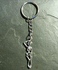 Skeleton Skull Bones Hang Man Noose Key Chain Pendant Charm Gothic Macabre Gift