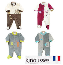 Les Kinousses Luxury Baby Boy/Girl Bodysuit Sleepsuit - French Quality Brand