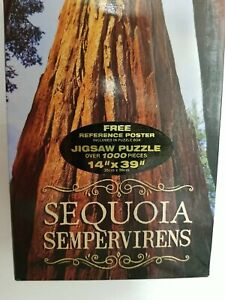"Impact Photographics Jigsaw Puzzle SEQUOIA SEMPERVIRENS Over 1000 Pieces 14""×39"""