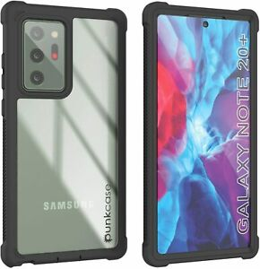 PunkCase Galaxy Note 20 ULTRA Case [Spartan Series]Clear Rugged Heavy Duty Cover