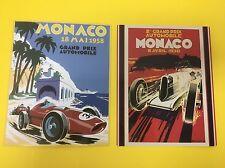 Monaco Grand Prix Vintage Reproduction Sign Combo 1930/1958