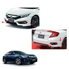 Front Rear Side Skirt White Painted 2Pc For Honda Civic Fc 4 Doors 2016 - 2017 +
