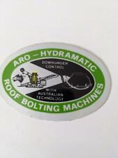 Retro Mining Sticker - ARO - Hydramatic Roof Bolting Machines