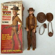 Vintage Marx Johnny West Series Jay West Movable Cowboy w/ Box & Accessories