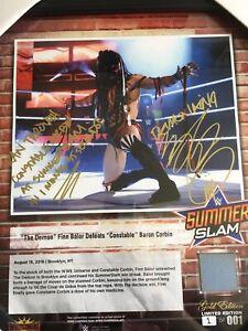 WWE Finn Balor Signed Summerslam 2018 GOLD Plaque #1 Of 1 ULTRA RARE Inscription