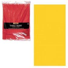 Amscan International Plastic Table Skirt Sunshine Yellow