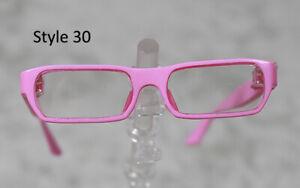 1/3 1/4 BJD SD 60cm 45 eye glasses eyeglasses Dollfie Pink clear lens Style 30