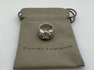 David Yurman 925 Sterling Silver Braided Woven Knot Cable Band Ring Mens Size 6