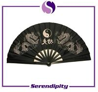 Chinese Japanese Kung Fu Dragon plastic folding Fan Large Hand