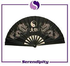 Chinese Japanese Kung Fu Dragon plastic folding Fan Large Hand