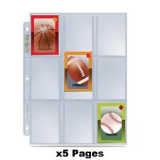 x5 Ultra Pro Premium Hologram Platinum Series 9 Pocket Trading Card Pages