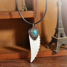 Wholesale White Colour Shell Necklace Wing Feather Charm Pendant Tribal Surf