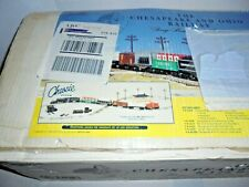 K-LINE C&O TRAIN SET COMPLETE WITH BOX AND ACCESSORIES QVC SPEC O GAUGE TRAINS