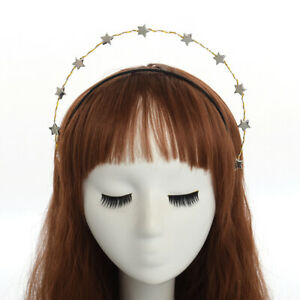 Party Sliver Stars Headband Bridal Crown Wedding Headdress Costume Headpiece