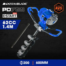 Powerblade 62cc Post Hole Digger Petrol Posthole Earth Auger Fence Borer Drill