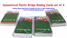 Bridge Bidding Cards set of 4 Elegant Symmetrical Plastic refills for most boxes