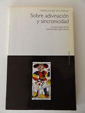 1999 SOBRE ADIVINACION Y SINCRONICIDAD Rare 1st Spanish Edition OCCULT Jung