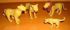 PLAYMOBIL Lion famille 1 Mâle 2x Femelle 1 jeune 4081 3255 4850 5276 (1)