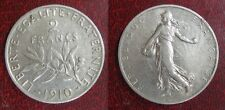 2 Francs  SEMEUSE - Louis-Oscar Roty  1910 - ARGENT