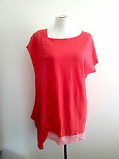 Vibrant Colour! Metalicus (one size) bright orange top in excellent condition