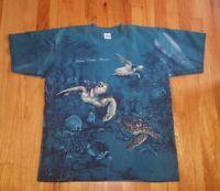 Vintage Belize Central America Aquatic All Over Print Habitat XCIV T-shirt Large