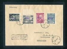 POLEN Nr.633-635 u.a. GROSZY R-BRIEF KATOWICE 22.1.1951 SCHWEIZ (956292)