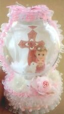 New Baby girl baptism christening communion cake topper Centerpiece decorations