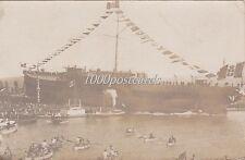 "SPEZIA 1907 VARO R. NAVE ""ROMA"" - fotocartolina privata marroncina"