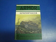 SONDERPANZER GERMAN SPECIAL PURPOSE VEHICLES  ARMOR SERIES 9