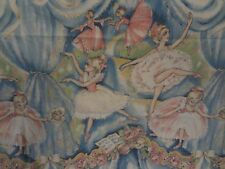 Vintage Large BALLERINA Fabric Remnant (148cm x 190cm)