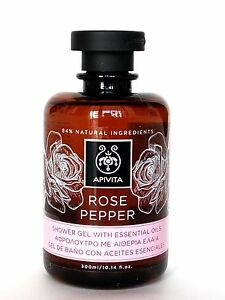 APIVITA ROSE PEPPER Natural Shower Gel With Essential Oils 300ml