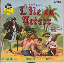 """WALT DISNEY L'ILE AU TRESOR par PATUREL LIVRE DISQUE 45T 7"""" PORT A PRIX COUTANT"""