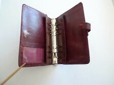 FILOFAX-  LEATHER  PLANNER - MADE@ ENGLAND- CLASSIC AND VINTAGE - MODEL 4CLF 7/8